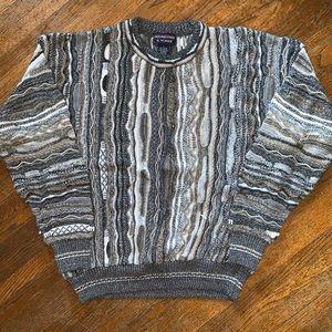 VTG 90s Coogi-Style Sweater Roundtree & Yorke Sz L